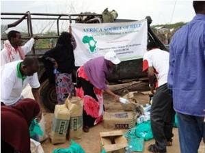Emergency Food Distribution in Alikune at Dadaab, Kenya.